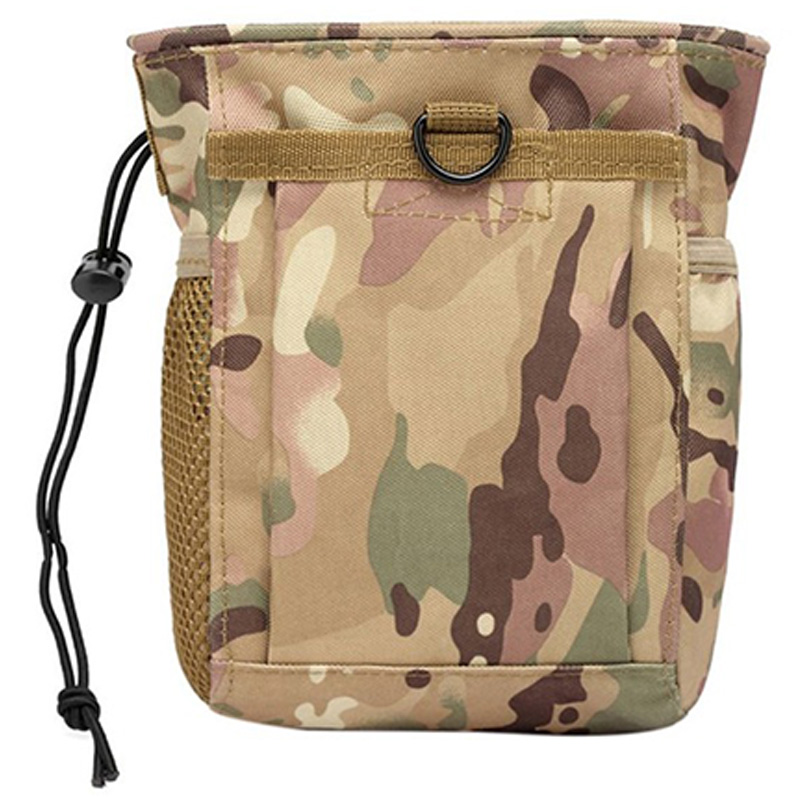 Molle System Hunting Magazine Dump Drop Pouch Recycle Waist Pack Ammo Bags Hunting Accessories Bag,Cp