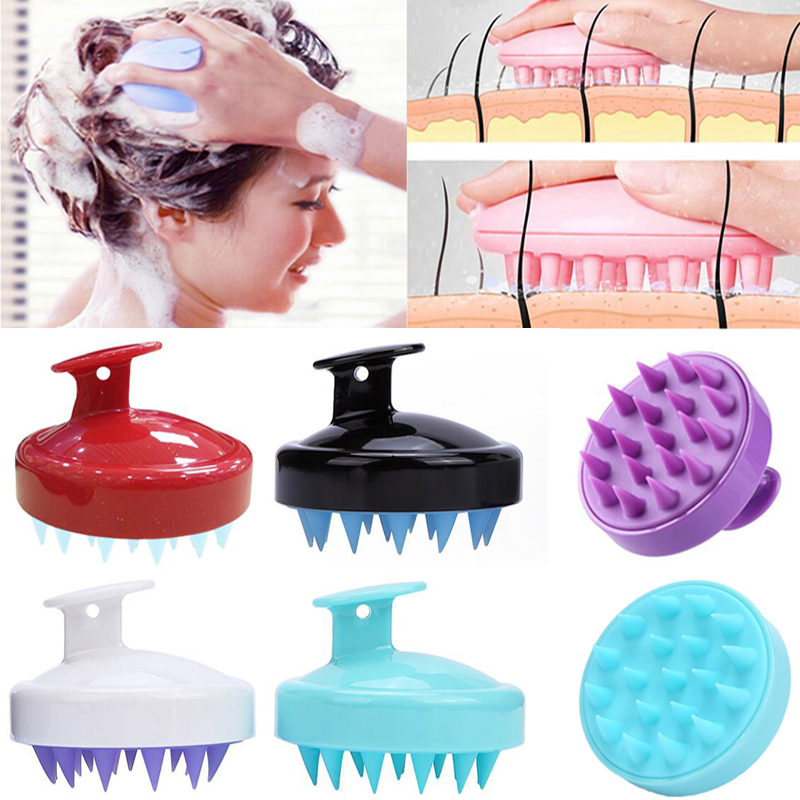 SPA Hair Massage Brush Multifunctional Soft Silicone Head Shampoo Comb Anti-Dandruff Shower Mini Head Meridian Hair Root Itching Scalp Massager