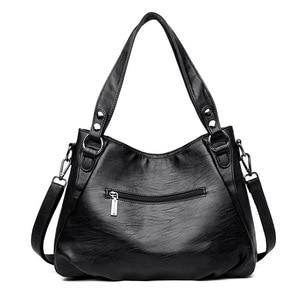 Image 4 - Damska torebka z prawdziwej skóry duża skórzana projektant duże torby z bawełny dla kobiet 2019 luksusowa torba na ramię znanych marek torebki