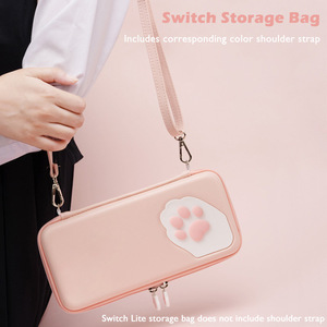 Image 4 - Nintend Switch Case Cat Claw CP Storage Bag NS Silicone Hard Shell Cover Box For Nintendo Switch Lite Game Console Accessories