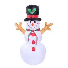 1.6 m natal iluminado inflável boneco de neve bonecas jardim ao ar livre quintal decoração natal adereços infláveis com luzes led