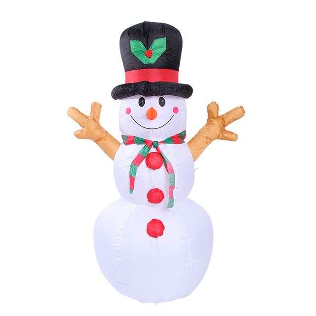Muñeco de nieve inflable iluminado para Navidad, 1,6 M, decoración de jardín exterior, accesorios de inflable de Navidad con luces LED