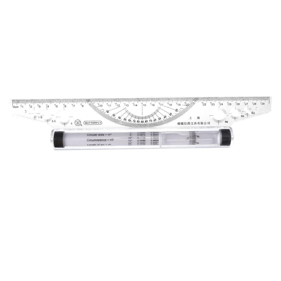 Uxcell Rolling Parallel Ruler 30cm Balancing Scale For Drafting Measuring Drawing Quadrants Squares Circles And Angles