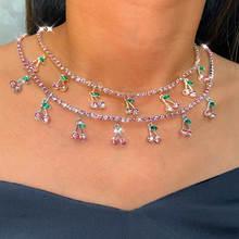 Женское ожерелье с подвеской flatfoosie цепочка розового цвета