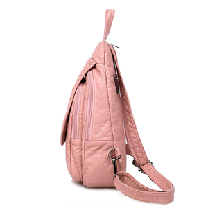 Image 2 - 2019 Women Soft Leather Backpacks High Quality Sac A Dos Female Travel Shoulder Bag Ladies Bagpack School Bags For Girls New