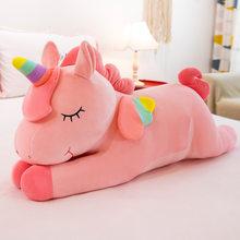 Peluche licorne couchée, jouets créatifs, grande poupée, oreiller confortable, cadeau pour enfants, Kawaii, décompression, pour anniversaire
