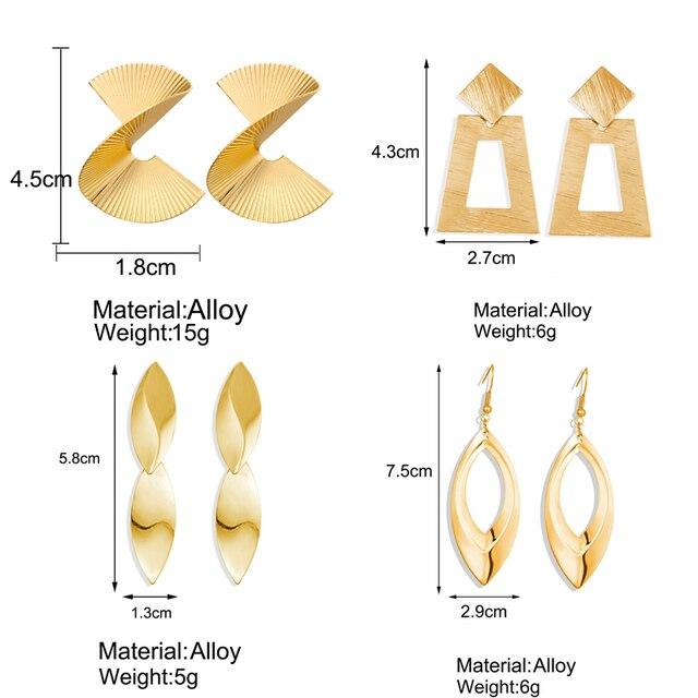 Hot Sale Gold Drop Earrings Jewelry Earrings For Women C Shaped Round Geometric Earring Female Fashion.jpg 640x640 - Hot Sale Gold Drop Earrings Jewelry Earrings For Women C Shaped Round Geometric Earring Female Fashion Jewelry Gifts