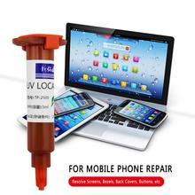 5 мл клей UV LOCA Жидкость оптический прозрачный клей для ремонта мобильного телефона для сенсорного экрана для Samsung IPhone Мобильный телефон Аксе...
