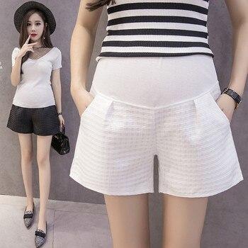 Summer Loose Maternity Short Pants Trouser 2020 Pregnant Women Belly Shorts Pregnant Women Elastic High Waist Shorts Belly Pants цена 2017