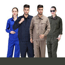 Engineering workwear suit wear-resistant autumn and winter labor insurance auto repair clothing oil resistant embroidery custom(China)