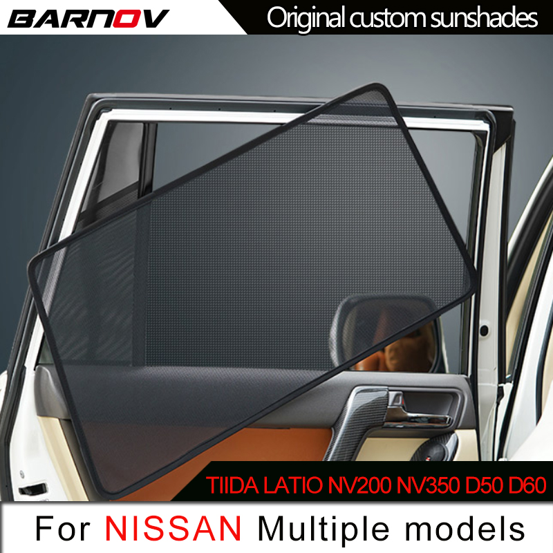 Car Special Magnetic Curtain Window SunShades Mesh Shade Blind Original Custom For Nissan Tiida Latio NV200 <font><b>NV350</b></font> d50 d60 image