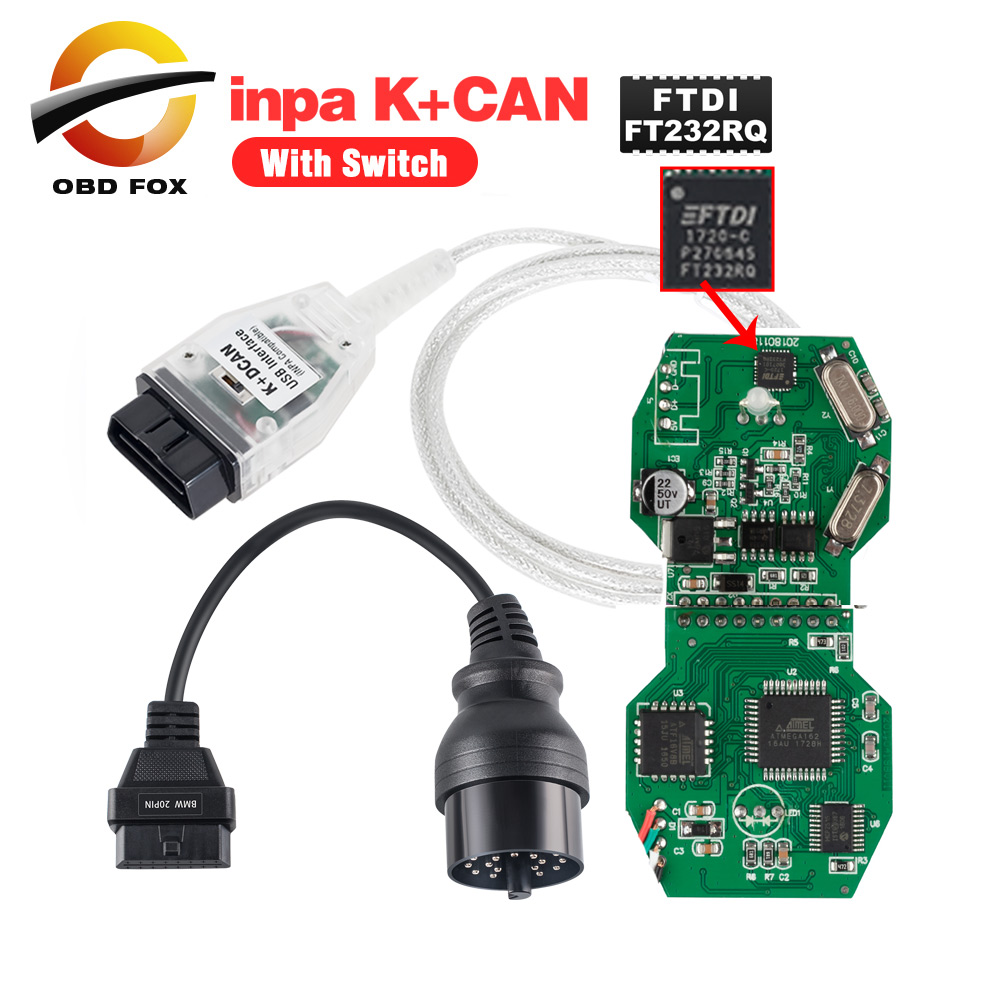 for BMW OBD2 K  Dcan USB Diagnostic with Switch INPA EDIABAS DIS SSS NCS Coding
