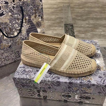 Prowow New Summer HIgh Quality Breathable Mesh Luxury Brand Espadrilles Women Sandals Designer Flats Shoes Women Zapatos Mujer