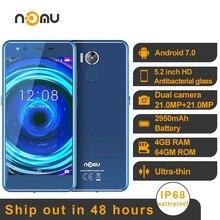 Oryginalny Nomu M8 IP68 wodoodporny smartfon android 7.0 MTK6750T Octa Core 5.2 cal 21MP 4GBRAM 64GB ROM NFC 4G LTE telefon komórkowy