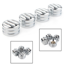 4pcs Chrome Motorcycle Head Bolt Nut Cover Cap CNC For Harley Twin Cam 1999-Later & Evo 1985-99(China)