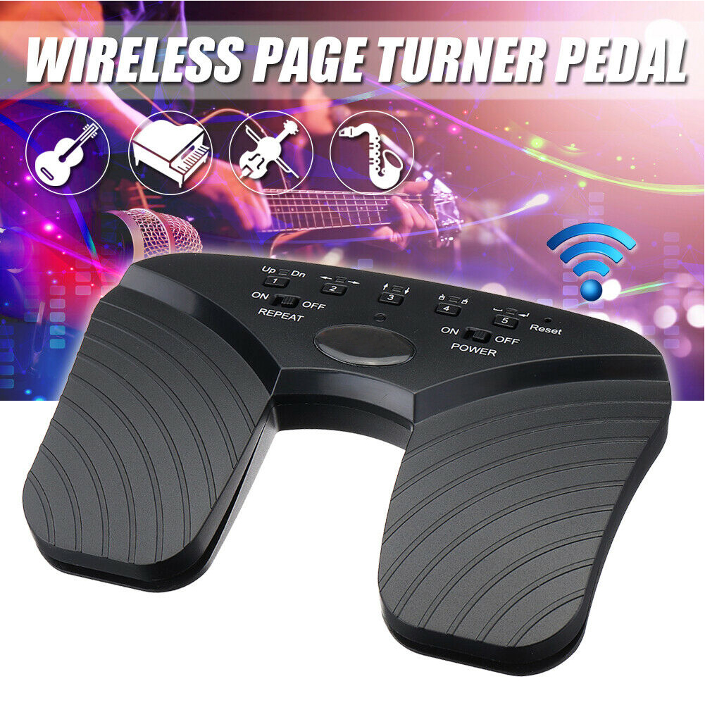 Practical Music Pedal Smart ABS Black Portable Bluetooth Guitar Tablets Page Flipper Wireless Rechargeable Accessories Durable