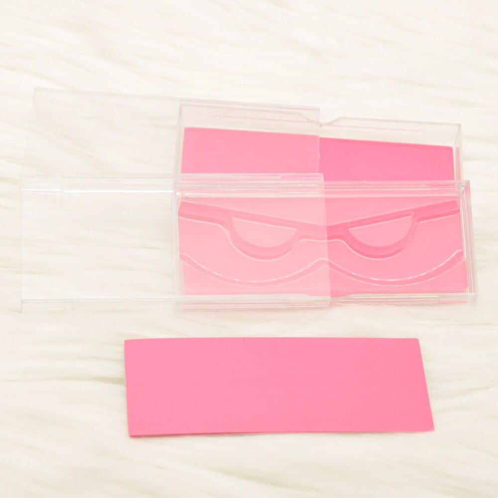 falso cils 3d vison cílios plástico claro caso bandeja