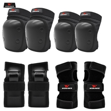 WOSAWE Kids Children 6pcs/set Skateboard Ice Roller Skating Protective Gear Elbow Pads Wrist Guard Cycling Riding Knee Protector