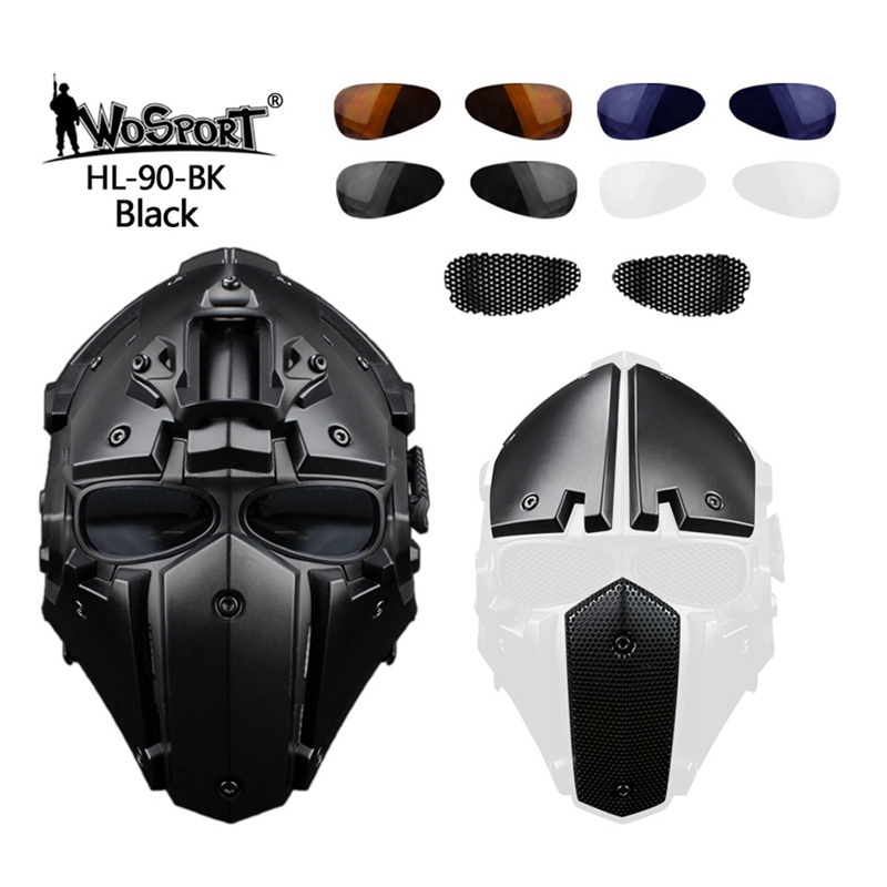 Image 4 - Tactical Full Face Airsoft Paintball Mask Military Army  Adjustable Protective CS Game Mask Helmet TacticsHelmets   -