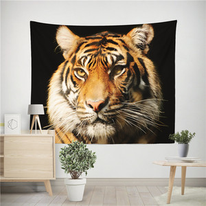 Image 2 - Lion Tiger Tapestry Colorful Animal Tapestry Wall Hanging Lion and Tiger Printed Decoration