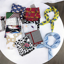 New Spring and Autumn Summer Small Scarf Square Women 's Professional Variety Decorative Printing Neckerchief