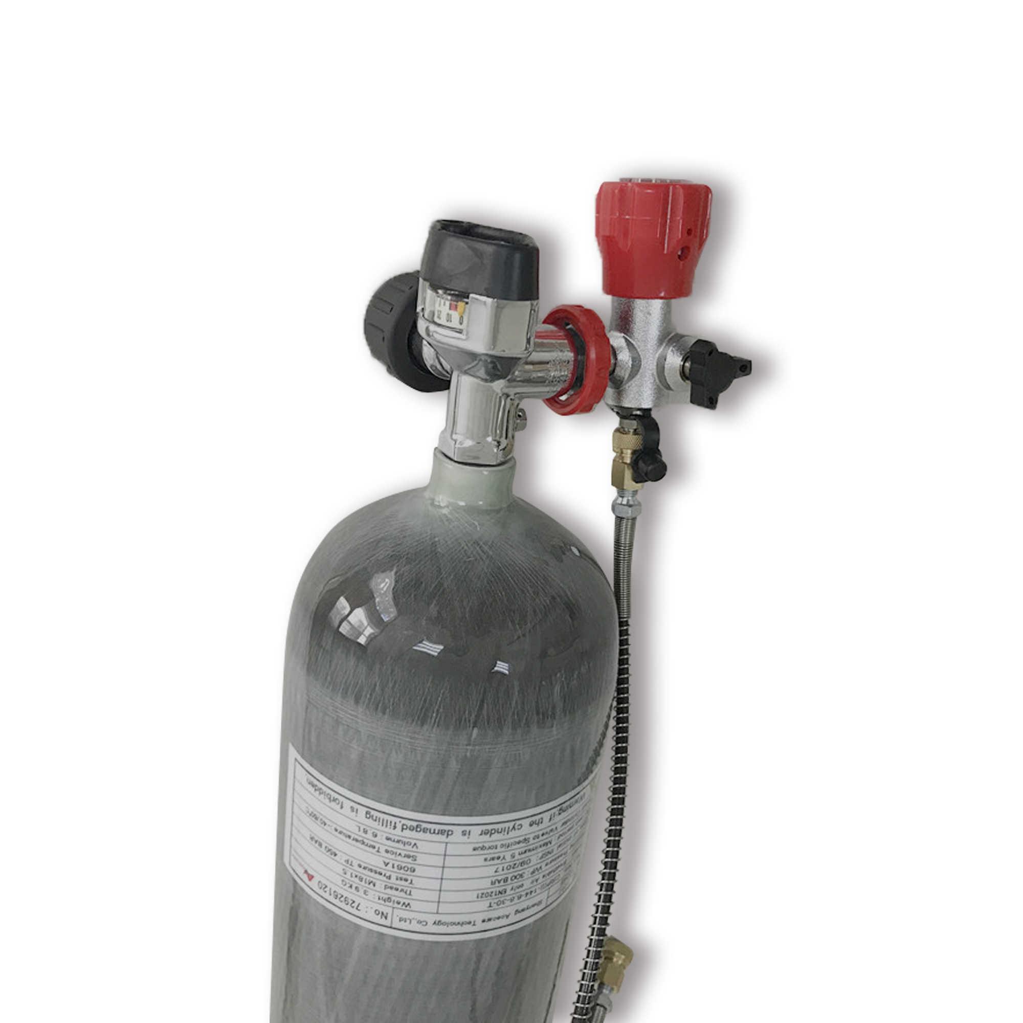 AC168201 6.8L Hpa cilindro de oxígeno CE Pcp 300Bar para buceo Pcp válvula y estación de llenado tanque de aire Pcp cilindro pistola de aire Condor