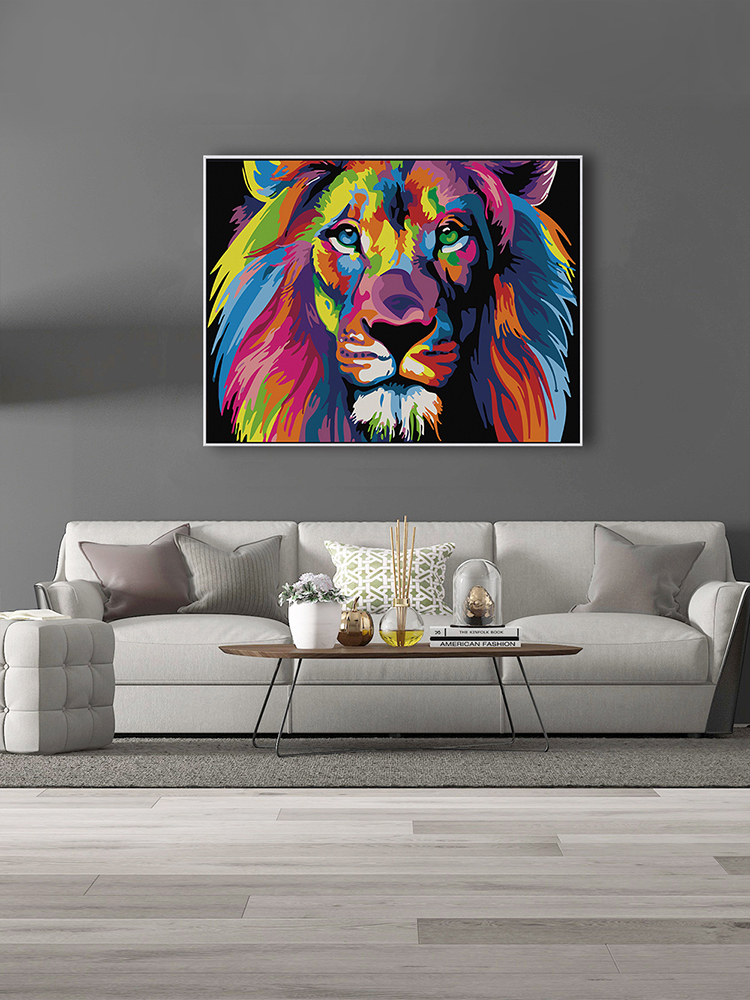 SDOYUNO Diy-Painting Numbers-Kits Art 60x75cm-Frame Lions-Animals Colorful Home-Decor