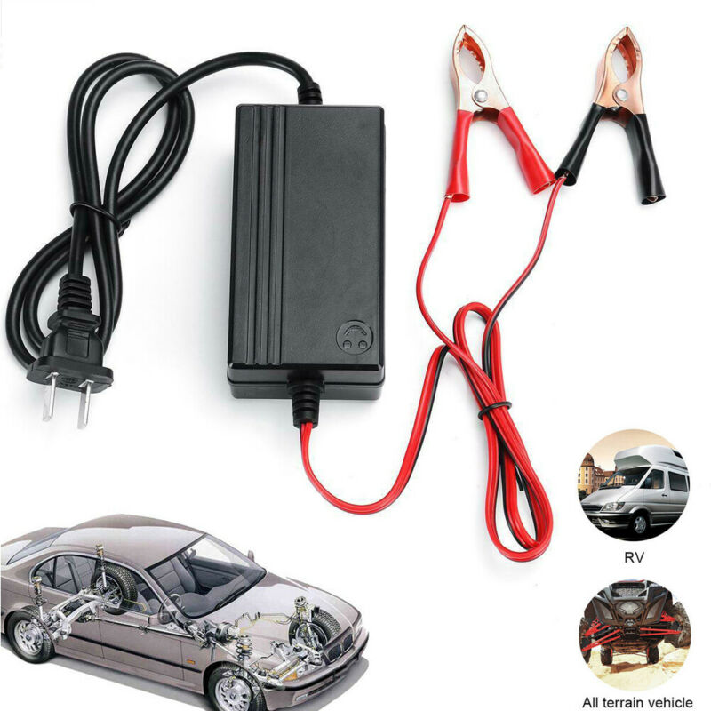 Smart <font><b>Battery</b></font> Chager 12V/24V Automotive <font><b>Battery</b></font> <font><b>Charger</b></font> Maintainer 6-400Ah <font><b>Trickle</b></font> <font><b>Charger</b></font> for <font><b>Car</b></font> Truck Boat Motorcycle RV image