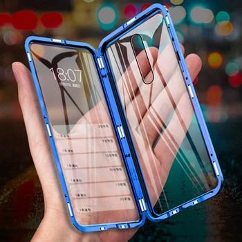 Magnetic Case Redmi 9 K30 Note 9S 8 8T 7 K20 Coque Glass Metal Bumper For Xiaomi 10 5G CC9 Pro Note 10 lite 6X MIX2S MAX3 Case