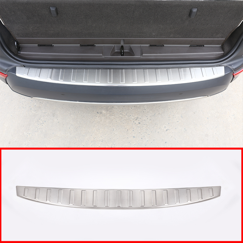 304 Steel Outside Rear Tail Door Sill Scuff Threshold Protector Cover Plate For Land Rover Discovery <font><b>5</b></font> 2017-20 Car Accessories image