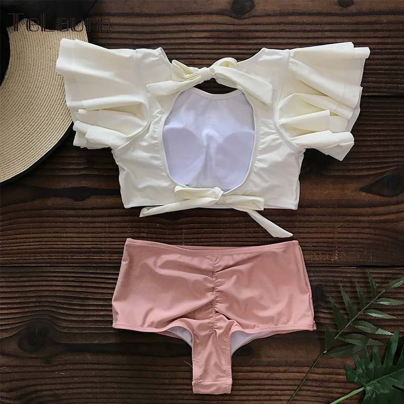 Hdbf45020881d4cd295a0a9186a0b38e5I Ruffle High Waist Bikini 2019 Swimwear Women Swimsuit Push Up Bikinis Women Biquini Print Swimsuit Female Beachwear Bathing Suit