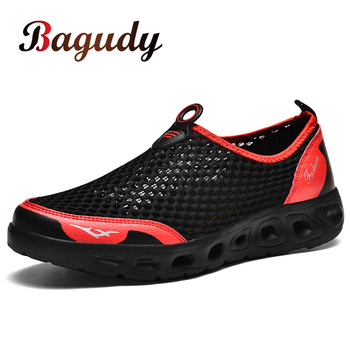 Summer Mesh Men Sneakers Low Top Hollow Footwear Breathable Casual Shoes Sale Trainers Fashionable Lightweight Flat Shoe for Men
