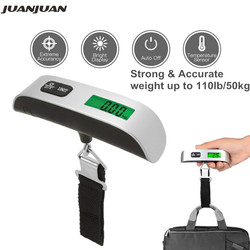 50kg Digital Suitcase Scale Hanging Scale Electronic LCD Travel Suitcase Luggage Bag Weight Scales 40% off