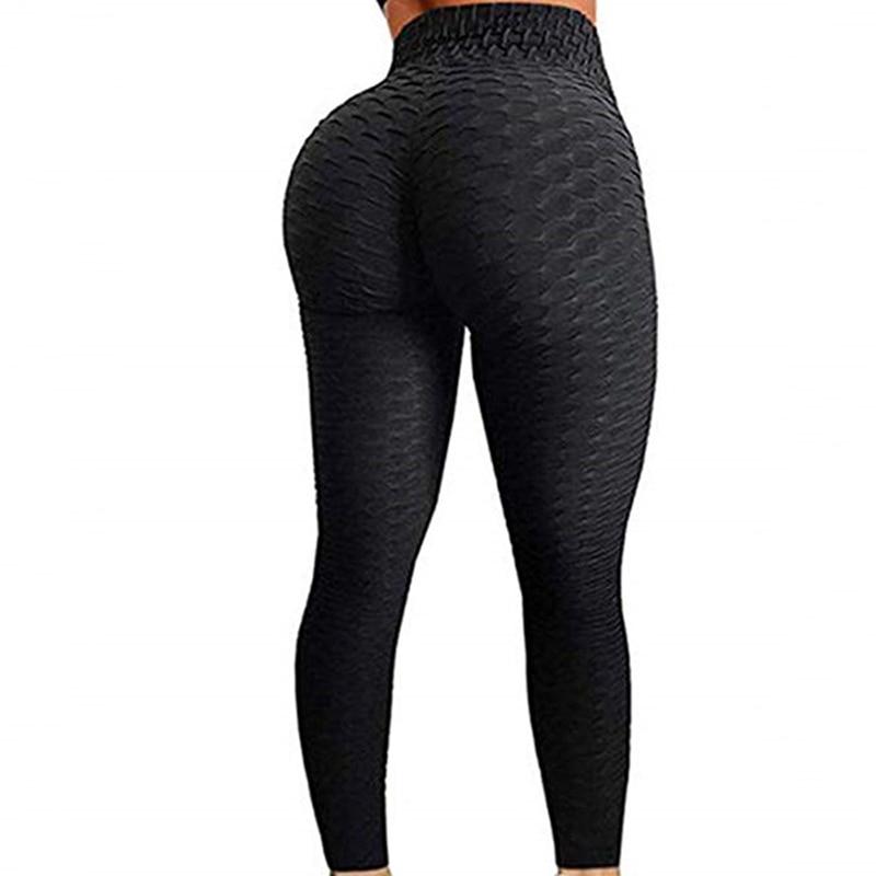 Пуш-ап леггинсы Женская одежда антицеллюлитный леггинсы фитнес черные легинсы, сексуальная юбка с завышенной талией, плотные леггинсы для ...
