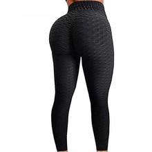 Leggings anti celulite fitness preto sexy cintura alta leggins