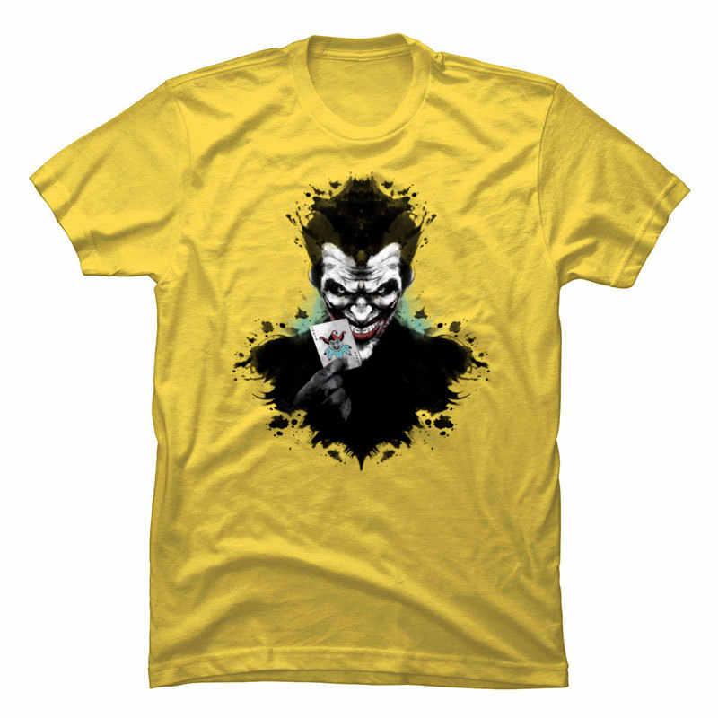 Pennywise Joker Kaos Oblong Putih Kaos Daftar Baru Musim Panas/Musim Gugur Tops Tees 100% Katun Lucu T-shirt Pesta Tshirt Pria