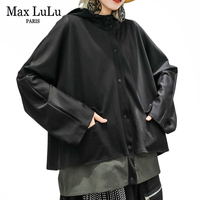 Max LuLu 2019 Autumn Fashion Korean Ladies Gothic Clothes Womens Hooded Casual Jackets Vintage Patchwork Loose Coats Plus Size