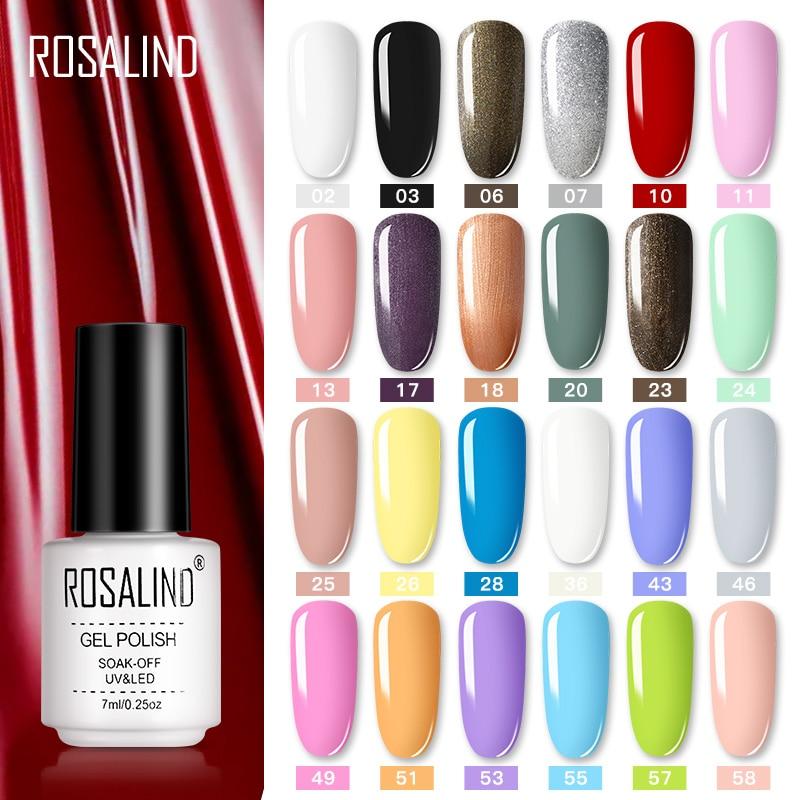 ROSALIND Nail Polish Vernis Semi Permanent Hybrid Varnish Gel Polish Uv Color Gel Manicure Primer Top Coat Glitter Nail Art