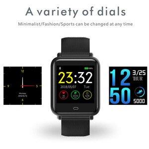 Image 5 - Imosi Q9 Bloeddruk Hartslagmeter Smart Horloge IP67 Waterdichte Sport Fitness Trakcer Horloge Mannen Vrouwen Smartwatch