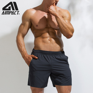 Image 3 - AIMPACT Mens Summer Fitness Shorts Mens Jogger Casual Knee Length Liner Shorts Bodybuilding Quick Dry Workout Beach Sportwears