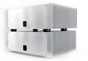 Image 2 - BZ3612AB シルバーフルアルミパワーアンプシャーシビッグヒートシンクエンクロージャークラス a ボックス