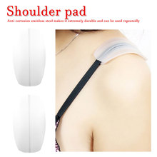 1 Pair Silicone Shoulder Pad Soft Bra Strap Holder Cushions Non Slip Pads Relief Pain for Woman