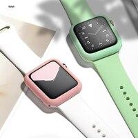 Koperta silikonowa do zegarka apple Series 5/4/3/2 zabezpieczenie przed wstrząsami do paska watch wymień pasek 38mm 40mm 42mm 44mm akcesoria