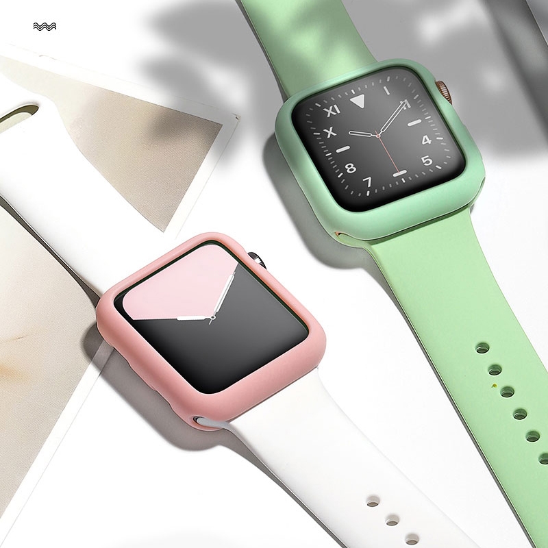 Soft Silicone Case For Apple Watch Series 5/4/3/2/1 Ultra Thin Shockproof Protector For IWatch Case 38mm 40mm 42mm 44mm