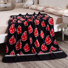 Red Anime Naruto Shippuden Akatsuki Morbido Caldo Corallo Del Panno Morbido Peluche Coperte E Plaid Letto Coperta Tappeto Dropship 150X200/120X150 Centimetri 1 Pcs Regalo Dei Capretti(China)