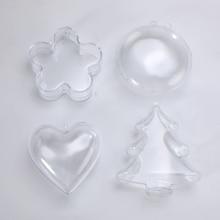 4 типа, прозрачная пластиковая 3D форма бомбы для ванны, форма сердца, сделай сам, форма бомбы для ванны, сделай сам, Рождественские елки, украшения, аксессуары для ванной