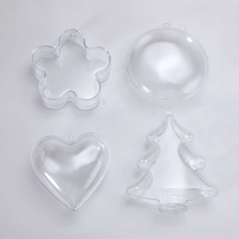 4Type Clear Plastic 3D Bad Bom Mold Hartvorm DIY Bad Bom Mold DIY Kerst Xmas Bomen Decoritions Bad accessoires