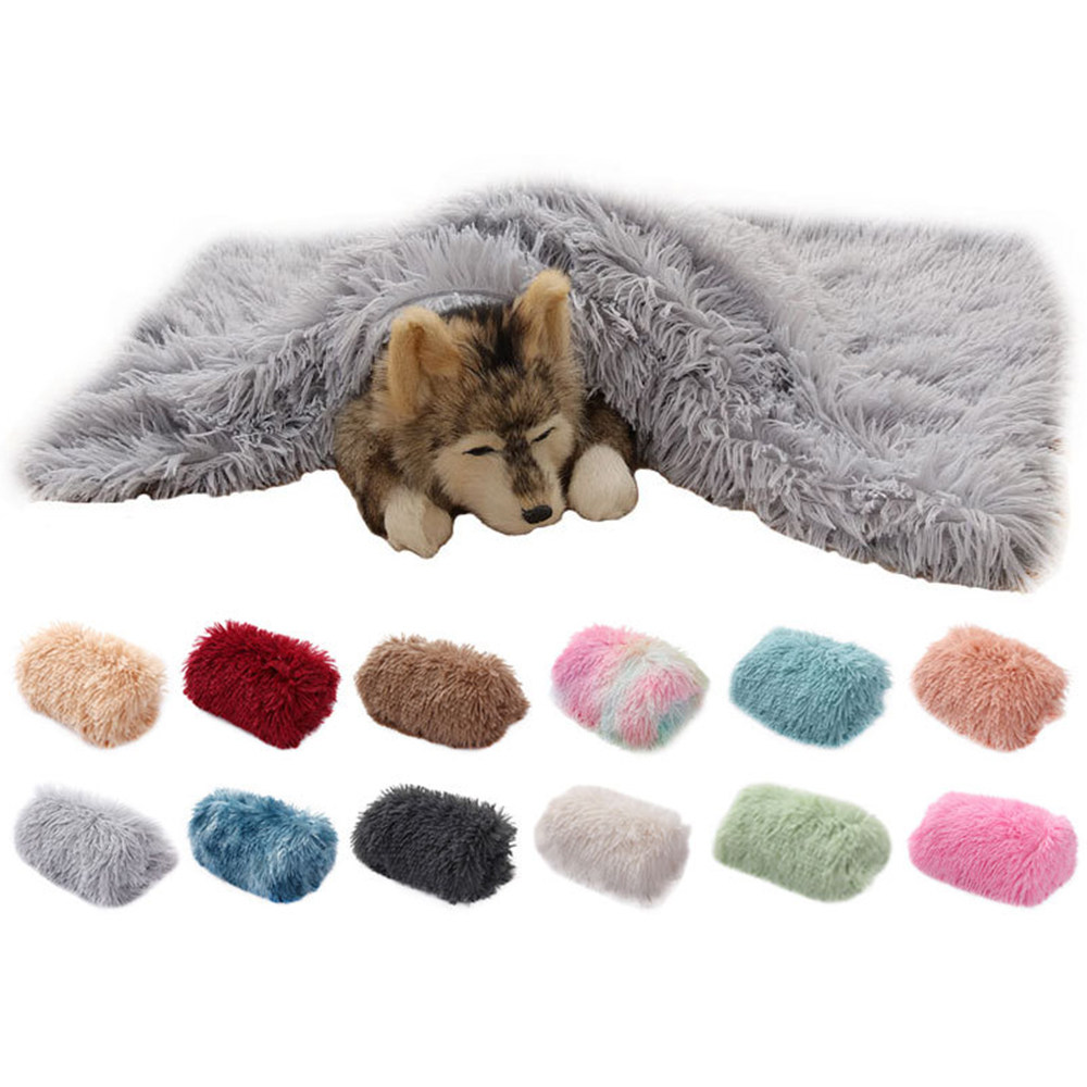 Pet Soft Fleece Pad Soft Flannel Thickened Pet Blanket Bed Mat For Puppy Dog Cat Sofa Cushion Home Rug Keep Warm Sleeping Cover