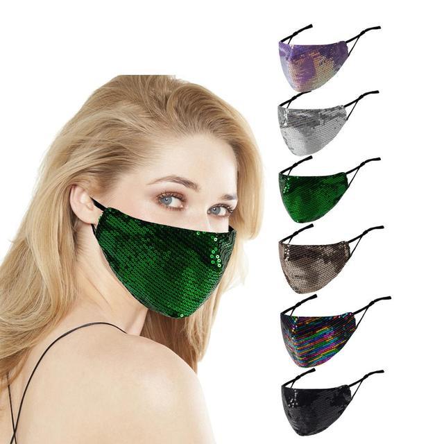 New Shiny Rhinestone Tassel Mask Decoration Face Accessories Cover Face Jewelry for Women Wedding Nightclub Decoration
