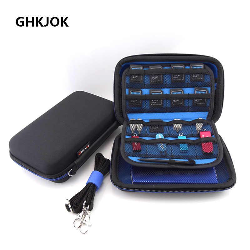 100% الأصلي إيفا الإلكترونية حقيبة للتخزين حقيبة السفر حمل غطاء ل HDD SSD USB كابل بيانات 3DS XL/3DS XL وحدات التحكم بالألعاب